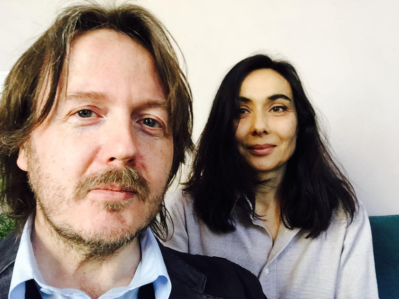 Aldo Dalla Vecchia con Annamaria Sbisà di Vanity Fair