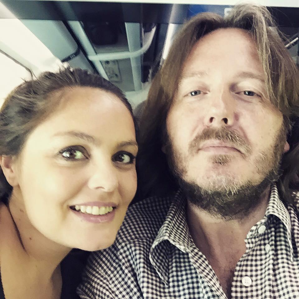 IN VIAGGIO Con Carola Cavalli (Frecciarossa Milano-Roma, giovedì 25 giugno 2015).