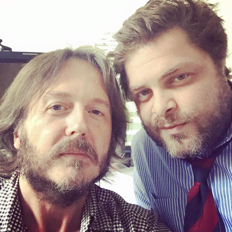 CON ARCADIO CAVALLI In sala di montaggio per lo speciale di Rete 4 «Insieme. Sandra & Raimondo» (Milano, martedì 15 settembre 2015).