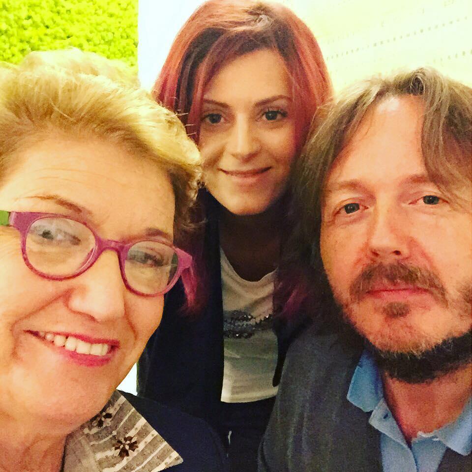 CON ANNALISA BALDI E MARA MAIONCHI A pranzo al ristorante Il Norcino (Milano, venerdì 25 settembre 2015).