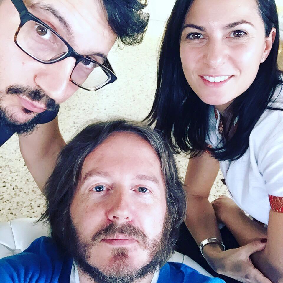 AUTORI Sul set della terza edizione di «In Forma», con Veronica Rossi e Paolo Mosca (Milano, martedì 10 novembre 2015).