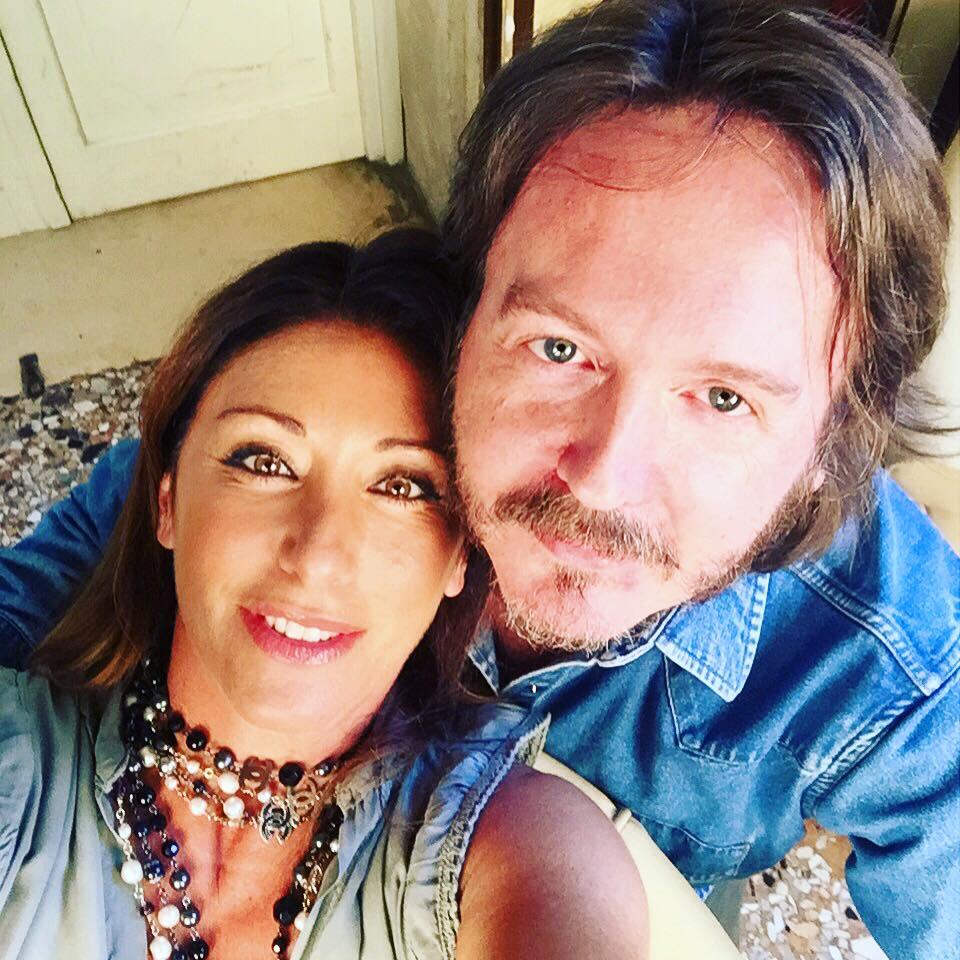 CON SABRINA SALERNO Intervistata per lo speciale di Rete 4 «Insieme. Sandra & Raimondo» (Mogliano Veneto, TV, venerdì 4 settembre 2015).