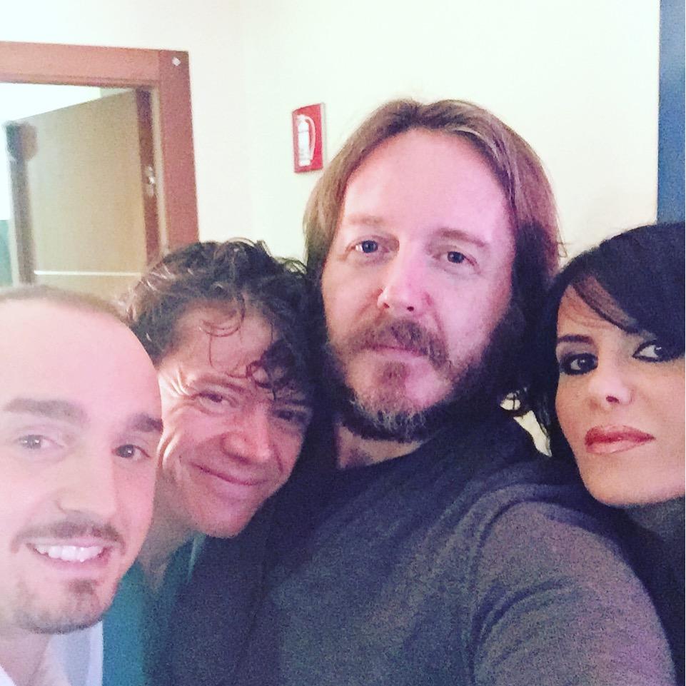 BACKSTAGE 1 Con Maria Grazia Santucci, Santo Raffaele Mercuri, Arcadio Cavalli sul set di «Basta poco» (Milano 2, sabato 28 novembre 2015).