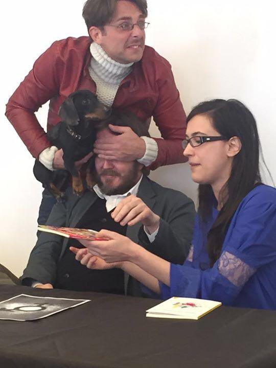 BELLISSIMA Presentazione di «Amerigo Asnicar, giornalista» con Grazia Sambruna, Alessandro di Sarno e Ricky (Milano, domenica 20 marzo 2016).