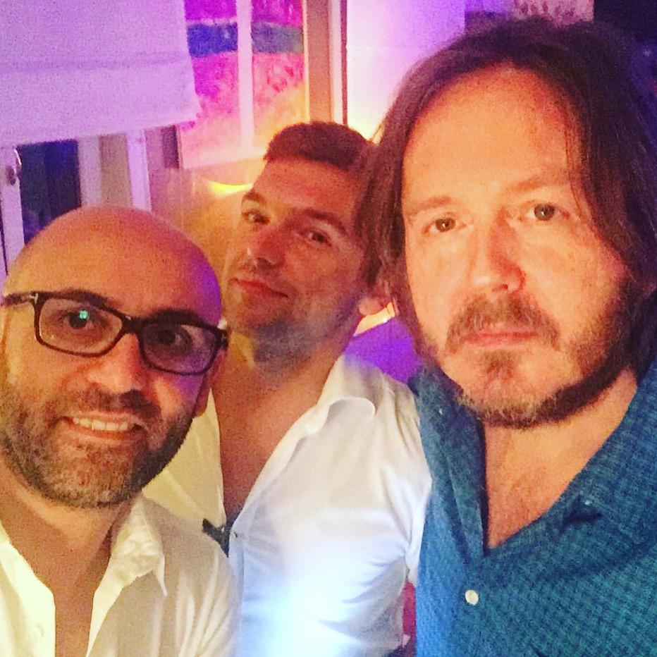 IL TERZETTO PERFETTO Con Santo Pirrotta e Raffaele Serinelli (Milano, domenica 17 luglio 2016).